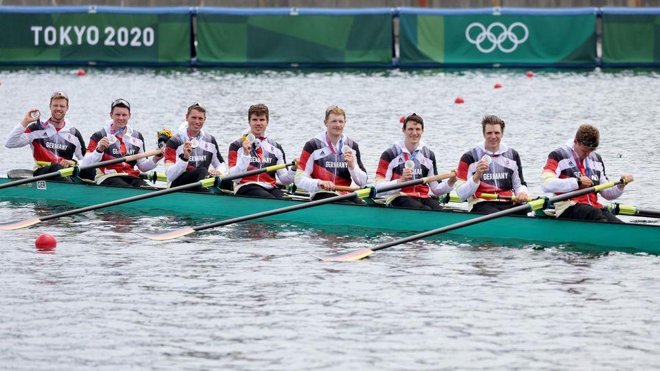 Das große Ziel Gold erreichte der deutsche Achter bei Olympia nicht