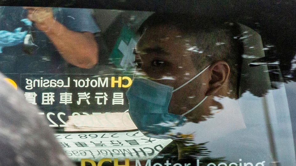 Demokratie-Aktivist Tong Ying Kit im Juli vergangenen Jahres bei seiner Ankunft vor Gericht