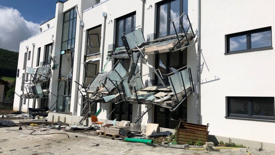 Demolierter Neubau in Blumberg