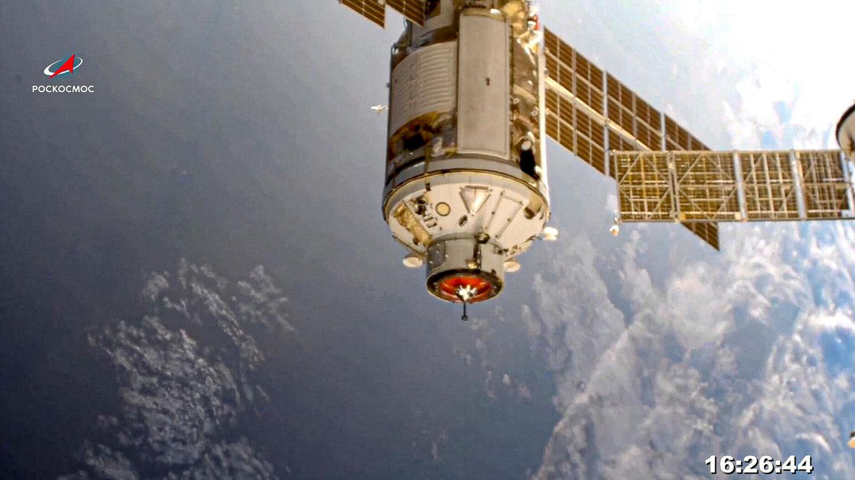 """Das russische""""Nauka""""-Modul im Weltall"""