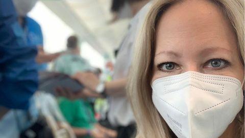 RTL-Reporterin Pia Schrörs berichtet über die Reporterbedingungen in Tokio.