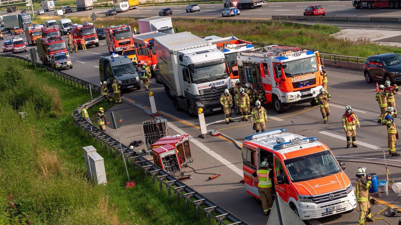 Unfall und Stau auf der A99