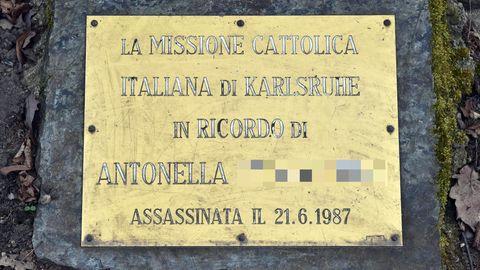 Gedenktafel für Antonella B.