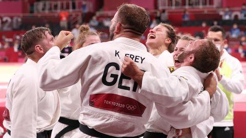 Judo-Team, Bronze im Mixed-Wettkampf
