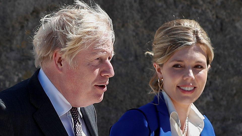 Carrie und Boris Johnson beim G7-Gipfel in Cornwall