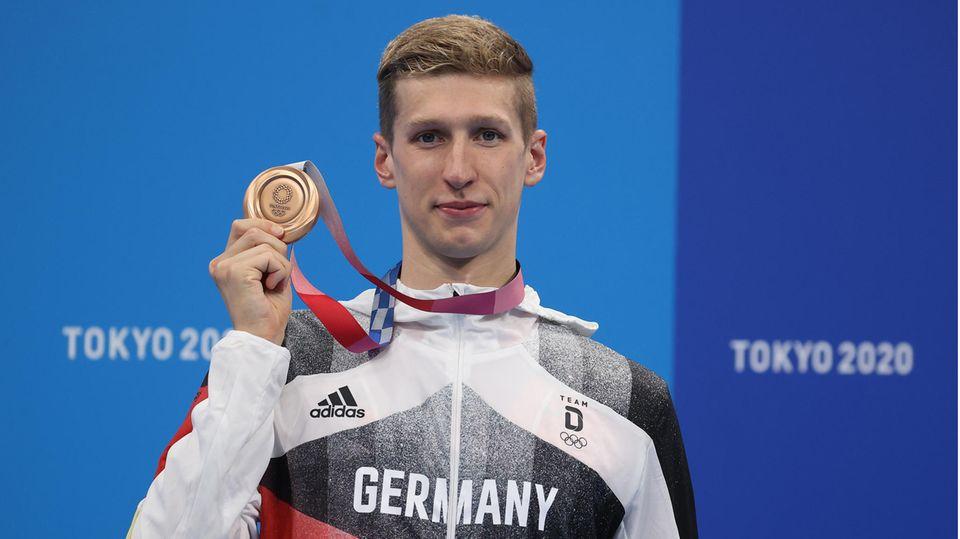 Florian Wellbrock, Schwimmen, Bronze über 1500 Meter Freistil