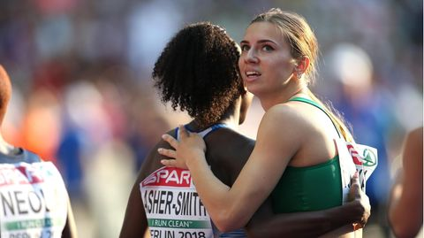 Kristina Timanowskaja, Sprinterin aus Belarus (Archivbild)