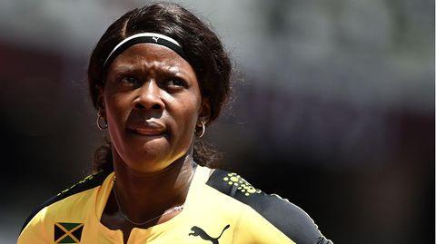 Aus nach dem Vorlauf: Shericka Jackson ließ es zu locker austrudeln und erhielt die Quittung