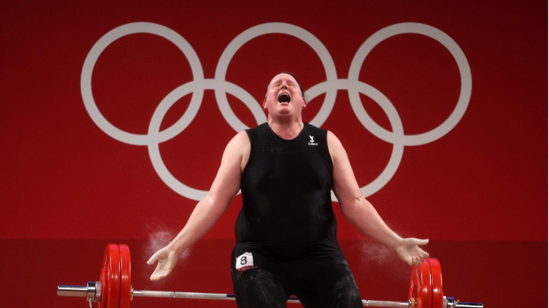 Laurel Hubbard vom neuseeländischen Team tritt beim Gewichtheben in Tokio an