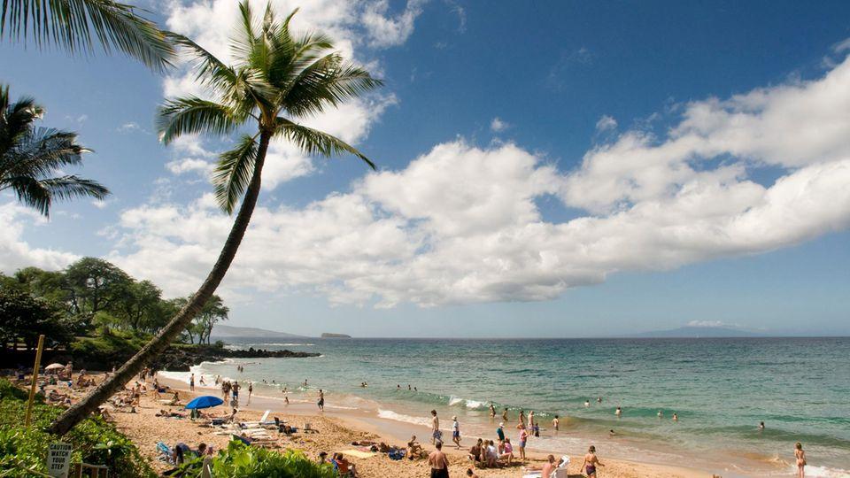 Strand auf Maui, Hawaii