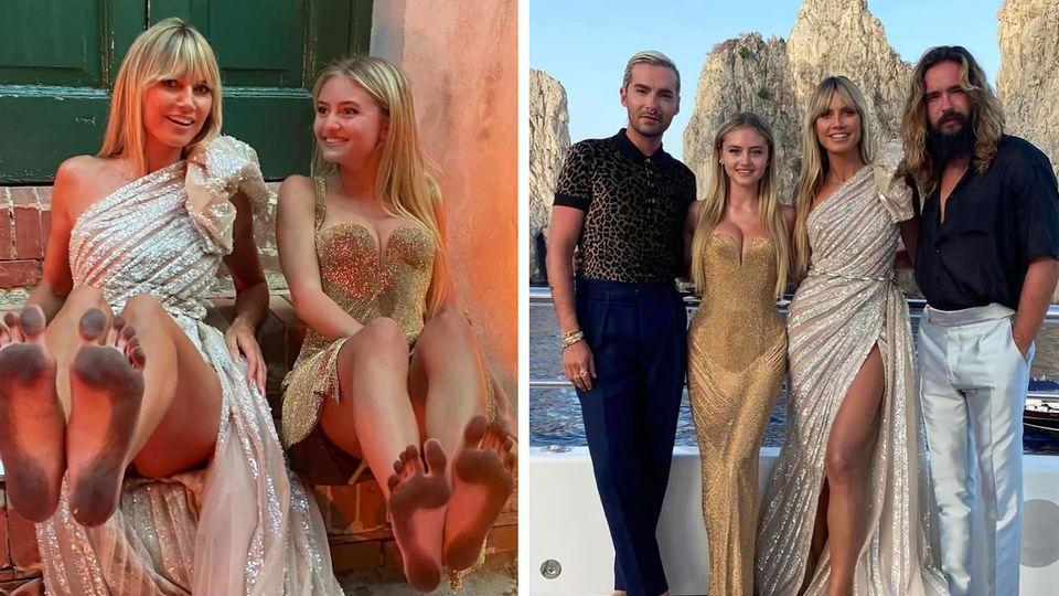 Heidi Klum im Urlaub auf Capri