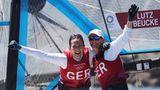 Tina Lutz (r.) und Susann Beucke, Segeln,Silber im 49er