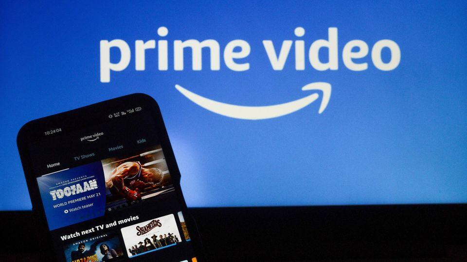Die App von Amazon Prime Video auf einem Smartphone