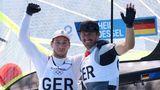 Segler Thomas Plößel und Erik Heil