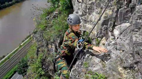 Prinzessin Elisabeth von Belgien absolviert ihre Militärausbildung.