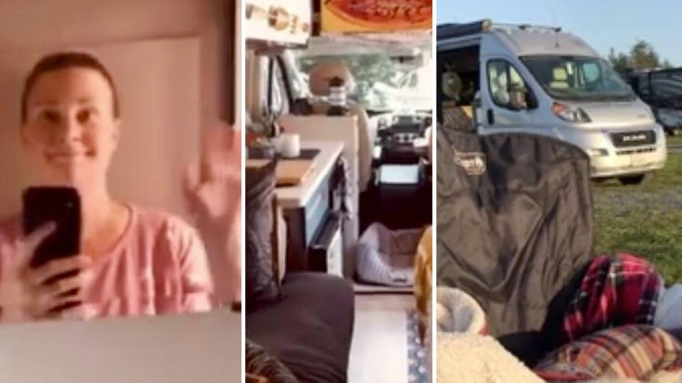 Einsame Krebspatientin gibt ihre Wohnung auf, um in einem Camper zu leben