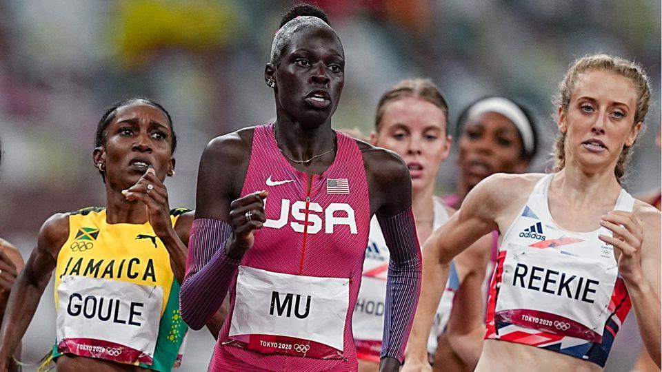 Das 800-Meter-Finale der Frauen in Tokio
