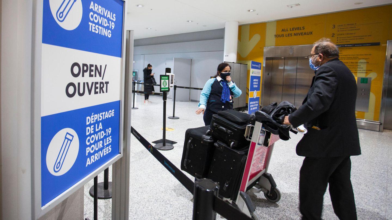 Corona-Teststation am Flughafen in Toronto