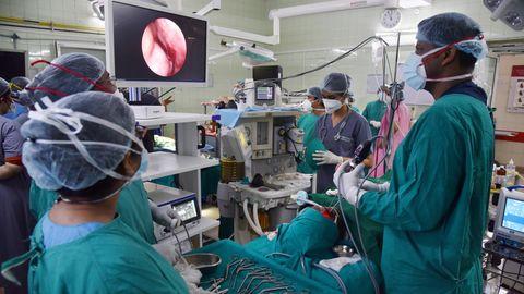 Eine Operation in einem Operationssaal