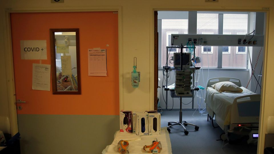 Eine leere Intensivstation in Frankreich: Das Bild steht symbolisch für die Krankenhäuser in Deutschland mit wenig Auslastung.