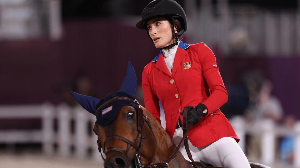 Jessica Springsteen bei der Olympia-Qualifikation im Baji Koen Equestrian Park