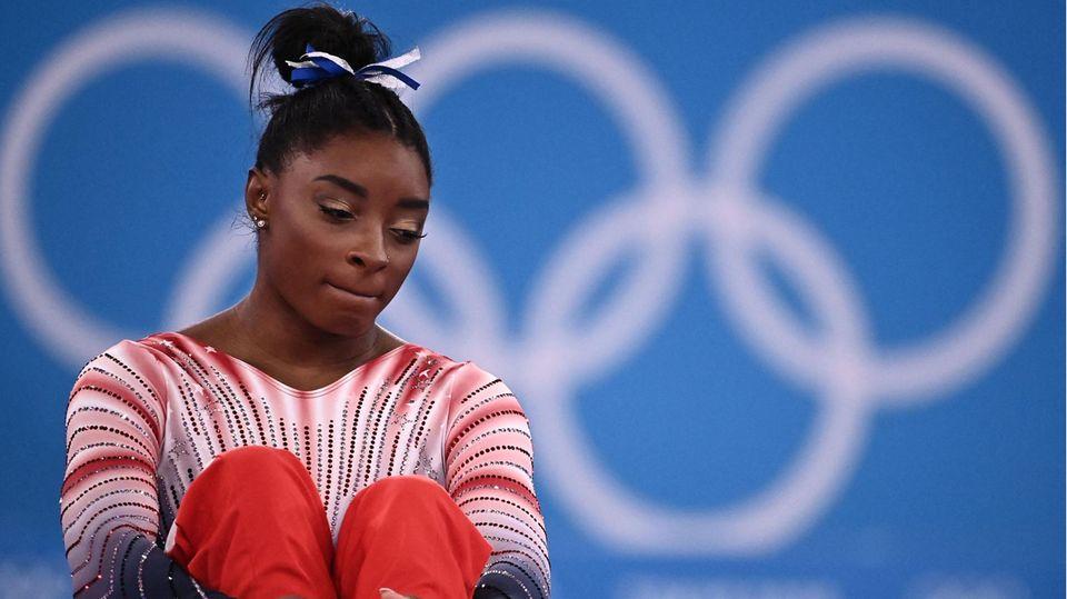 Simone Biles ist trotz ihrermentalen Probleme dankbar für die Teilnahme an den Olympischen Spielen in Tokio