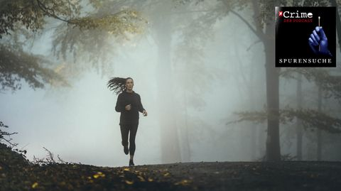 Joggerin im Wald