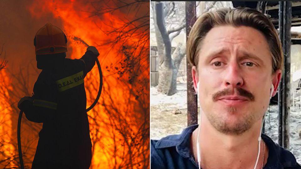 """""""Brände können jederzeit neu ausbrechen"""": stern-Reporter berichtet von Großfeuern in Griechenland"""