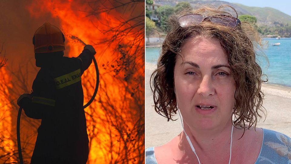 """""""Weinende Kinder, es war furchtbar """": Urlauberin berichtet von Großbrand in Griechenland"""