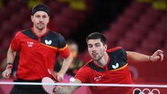 Timo Boll und Patrick Franziska, Tischtennis, Silber im Tischtennis-Mannschafts-Wettbewerb