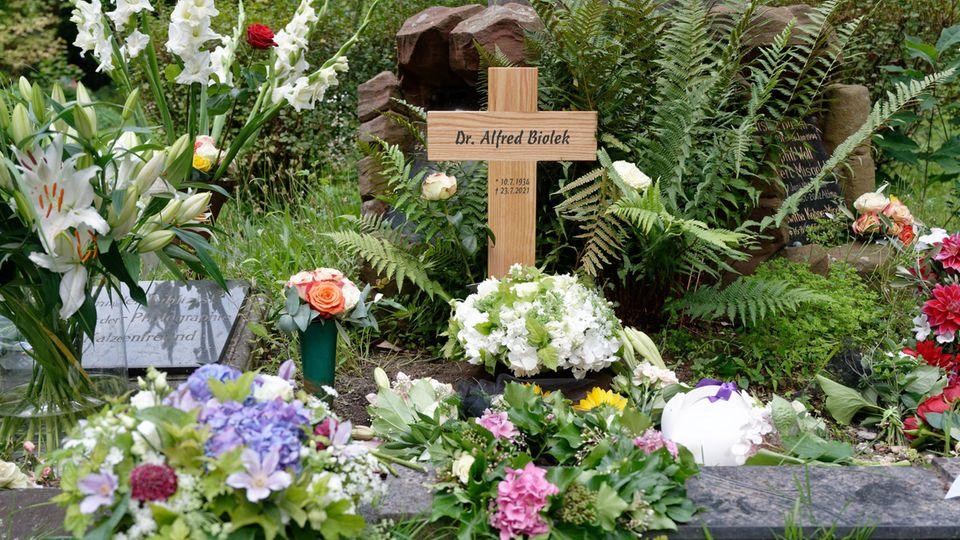 Das Urnengrab von Alfred Biolek in Köln