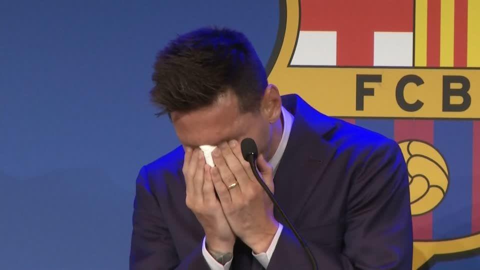"""Abschied nach mehr als 20 Jahren: """"Ich bin nicht bereit dafür"""": Messi verabschiedet sich unter Tränen aus Barcelona"""