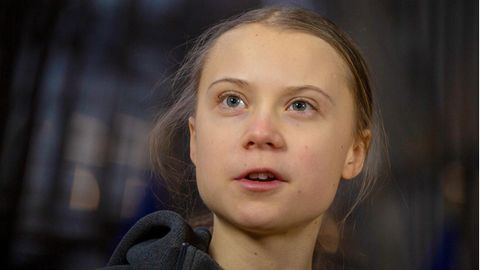 Die Klimaaktivistin Greta Thunberg