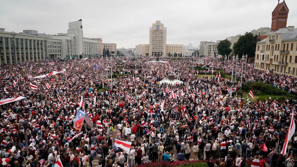 Ein Jahr Proteste in Belarus