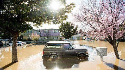 Hitze und Überflutung in Kalifornien