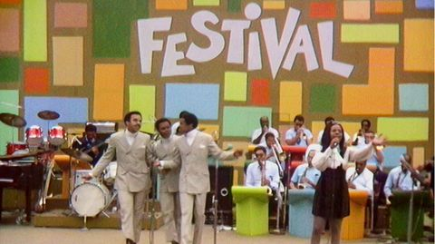 GLADYS KNIGHT & the Pips beim Harlem Cultural Festival in 1969