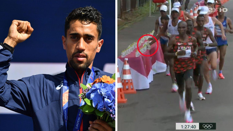 Absicht oder Erschöpfung?: Flaschen-Eklat bei Olympia: Läufer Amdouni äußert sich zu Vorfall – und zieht sein Statement wieder zurück