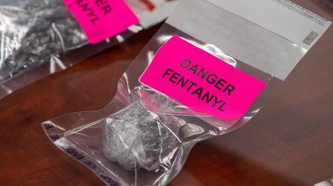 Droge Fentanyl in einer Plastiktüte