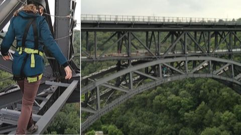 Eisenbahnbrücke zum Klettern in Solingen