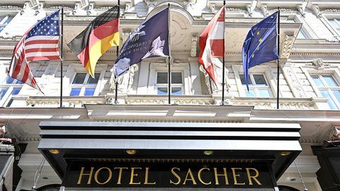 Außenaufnahme des Hotels Sacher in Wien