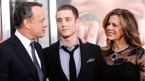 Tom Hanks und Rita Wilson mit ihrem gemeinsamen Sohn Chet