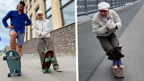Skateboard-Opa