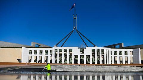 Das Parlamentsgebäudes in Canberra