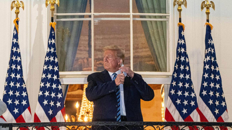 Donald Trump auf dem Weißen-Haus-Balkon
