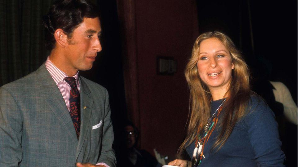 Barbra Streisand und Prinz Charles