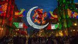 Bunte Lichter in den Straßen von Mexiko-Stadt