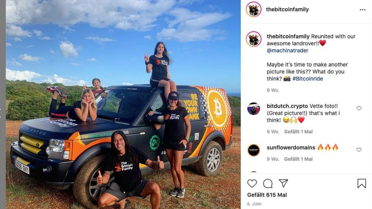 The Bitcoin Family documents its history on numerous platforms such as Instagram