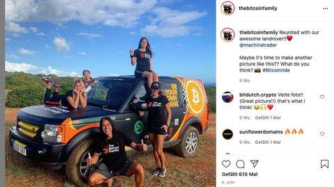 Die Bitcoin Family dokumentiert ihre Geschichte auf zahlreichen Plattformen wie Instagram