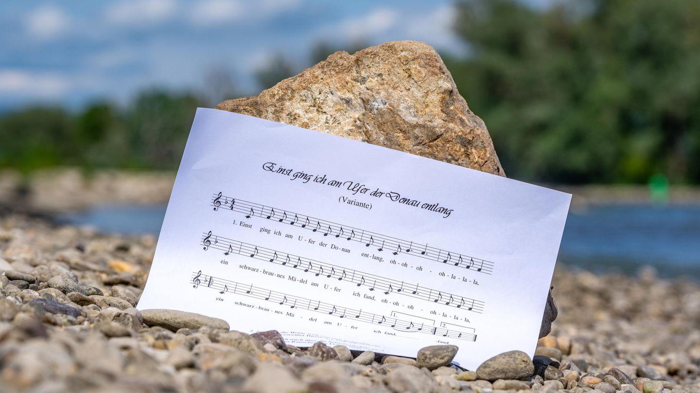 Ein Notenblatt des Donaulieds