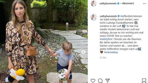 Cathy Hummels und ihr dreijähriger Sohn Ludwig